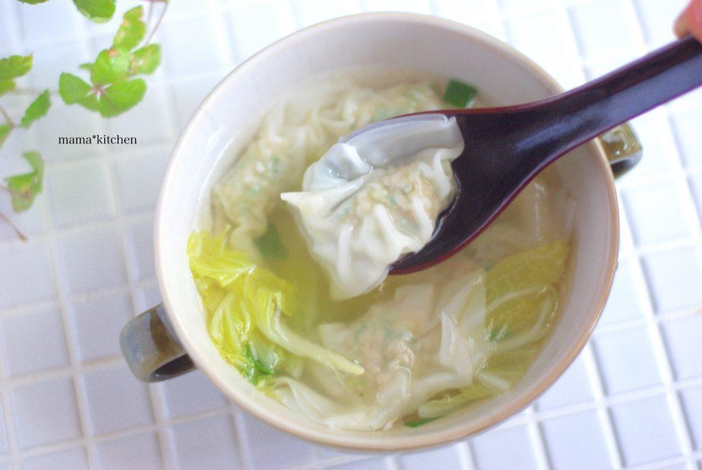 朝のワンタンスープも簡単!便利すぎる「ワンタン」の作り置き by:Mayu*さん