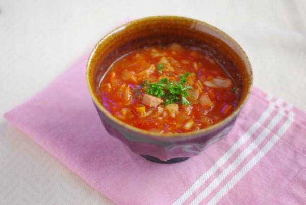 チーズリゾットが朝3分で!「作り置きトマトスープ」レシピ by:Mayu* さん