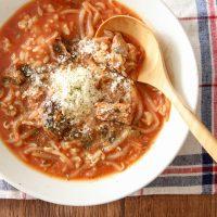冷凍○○が朝の時短に便利すぎ!レンジで簡単「サバ缶スープごはん」