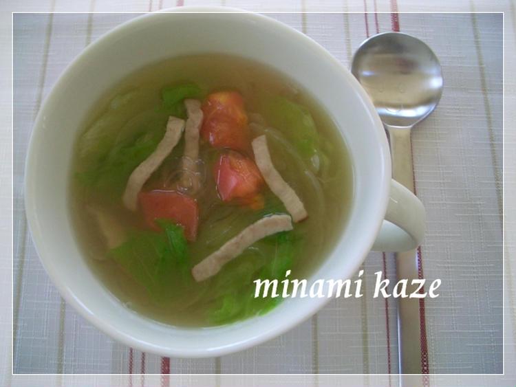 (トマトとレタスのスープ by:みなみさん)