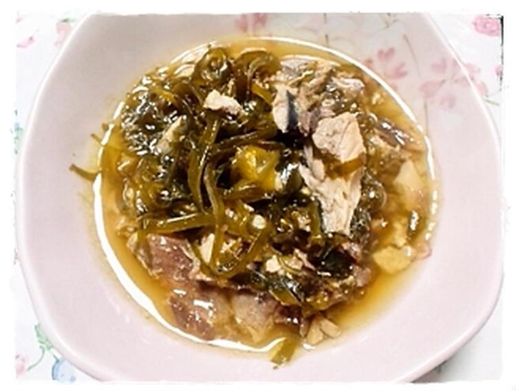 サバ水煮缶と昆布の醤油煮 by:にゃこさん
