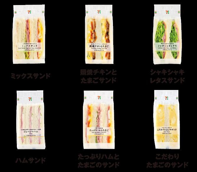 朝セブンの対象サンドイッチ