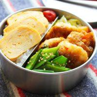 旬野菜の時短おかず♪「絹さやの蒸し炒め」のお弁当