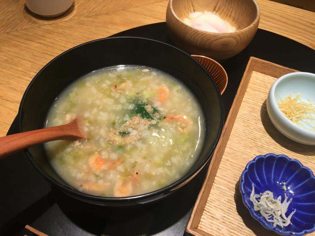 おだし東京の朝粥セット
