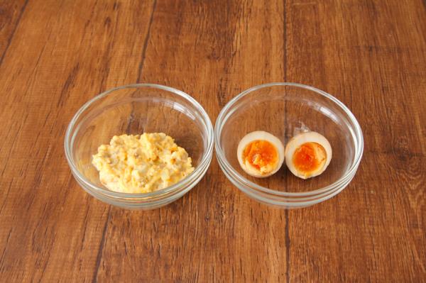 煮卵のタルタル