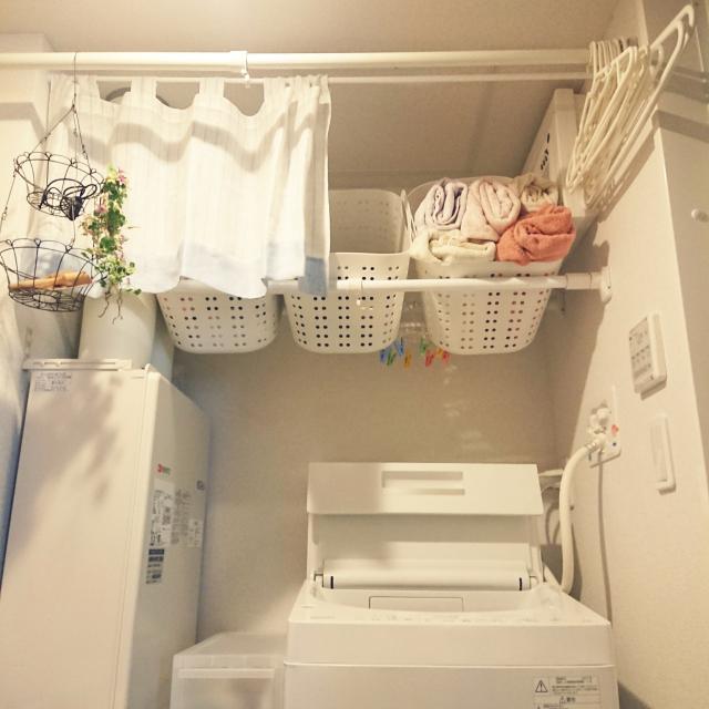 収納力がぐーんとアップ!「洗濯機の上」活用アイデア