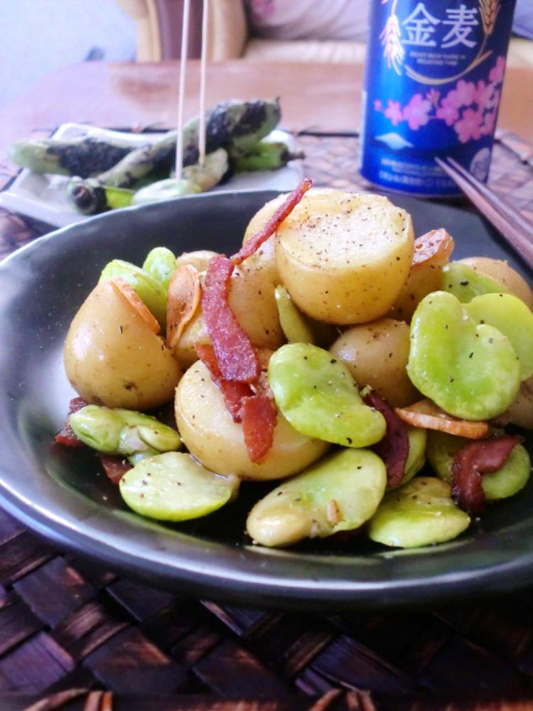 そら豆とポテトのガーリックソテー by:ゆりりんさん