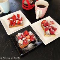 簡単☆イチゴ大福トースト