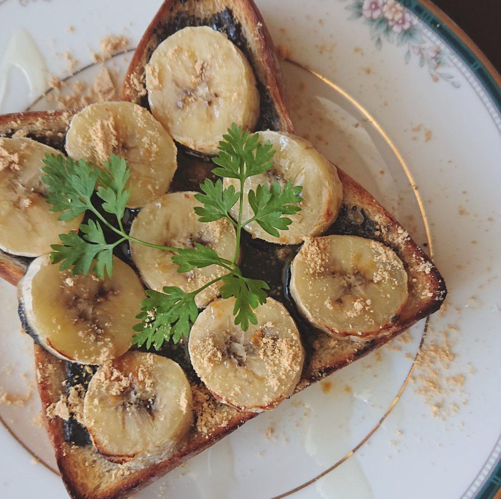 朝ごはんで五月病を吹き飛ばせ!簡単「黒ごまバナナトースト」