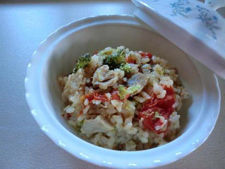 鶏肉とトマトの炊き込みご飯 by:CatherineSさん