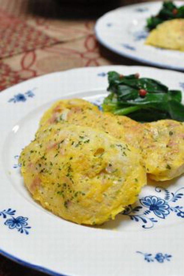 ハムとチーズ入り*鶏むね肉のピカタ by:月草さん