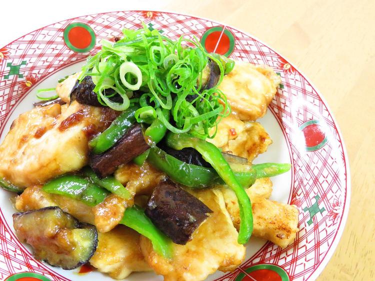茄子とピーマン辛みそ胸肉炒め☆お弁当に♪ by:kaana57さん