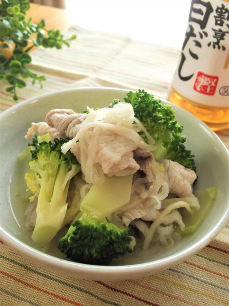 豚肉×ブロッコリー×切干大根の白だしさっと煮 by:まんまるらあてさん