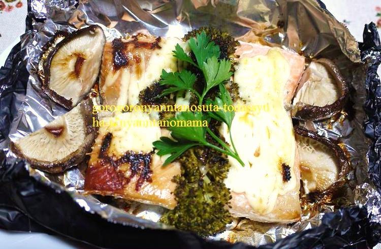 <時短・簡単ホイル焼き♪鮭のマヨネーズ焼き(^◇^)> by:はーい♪にゃん太のママさん