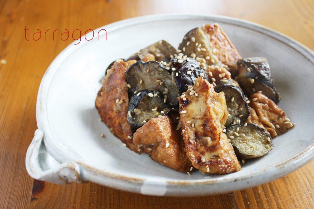 お肉なしでもご飯が進む!簡単おかず「厚揚げとなすの生姜焼き」