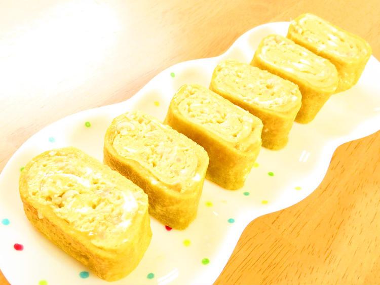 簡単アレンジ卵☆えのきのバター醤油卵巻き by:kaana57さん