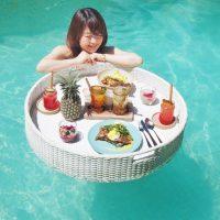 プールの上で朝食を楽しむ!バリで体験した「フローティングブレックファースト」♪
