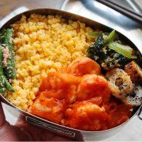 プリプリ食感のごちそうおかず!「簡単エビチリ」のお弁当