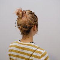 伸ばしかけボブでもお団子ができる♪首元スッキリまとめ髪の作り方