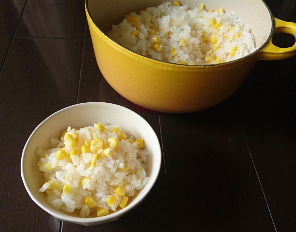 切ってのせて炊くだけで簡単!甘~い「とうもろこしごはん」 by:料理家 村山瑛子さん