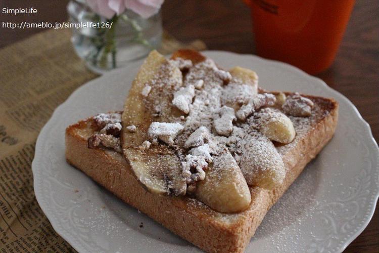 きなこバナナトースト by:えつこさん