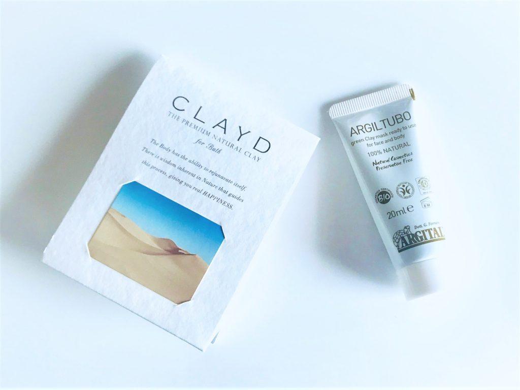 CLAYD『CLAYD for bath ONETIME』とアルジタル『グリーンクレイペーストミニN』