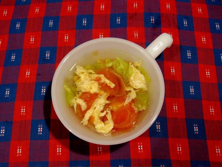 レタスとトマトのスープ。 by きー。さん