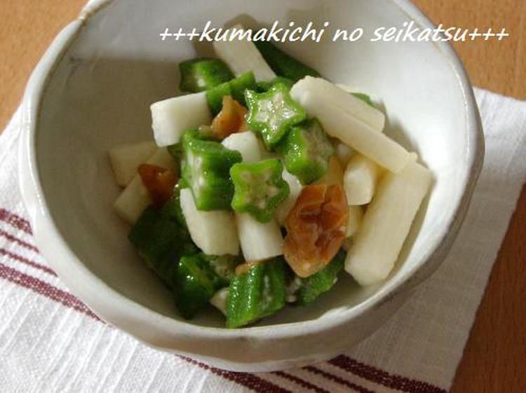●これも簡単☆山芋とおくらの梅肉和え☆青じそぽん酢で♪ by:kumakichiさん