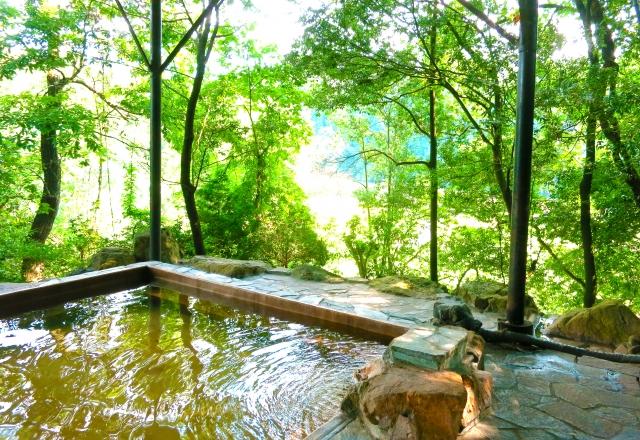 露天風呂の景色