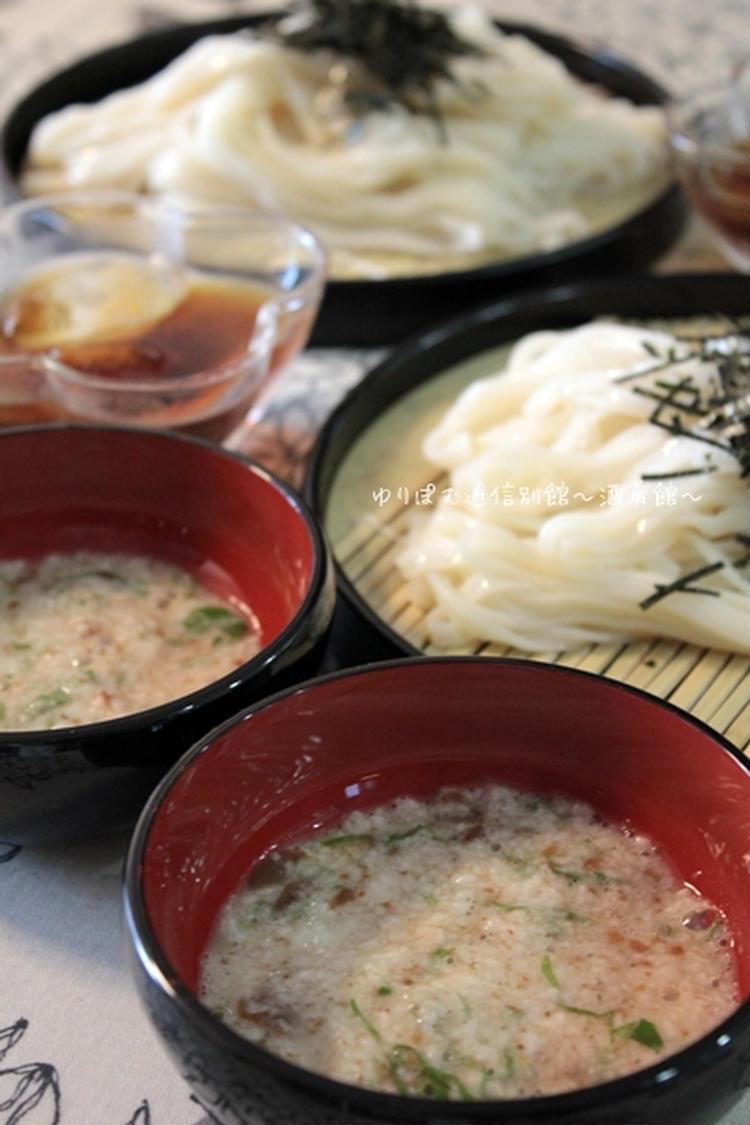 喉越しつるりん♪梅とろろつけ麺。 by:薬膳師ゆりぽむさん