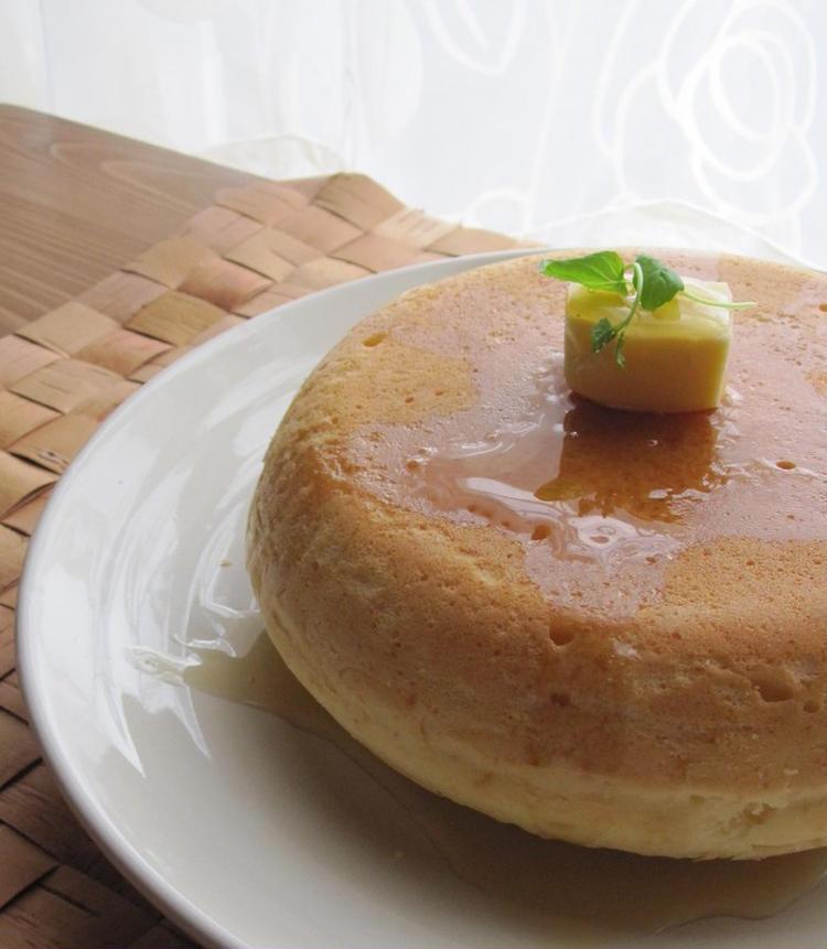 (炊飯器ふわふわホットケーキ by:ルシッカさん)