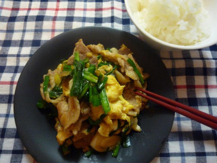 豚肉とにらの卵炒め by:はちみつりんごさん