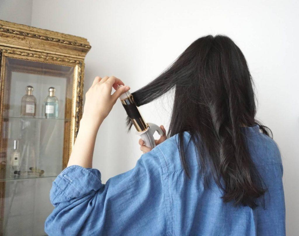 セルフ巻髪
