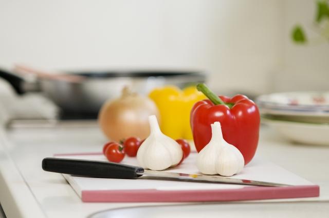 キッチンにある野菜