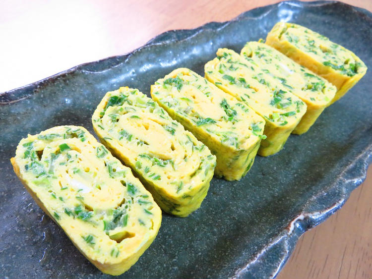 簡単アレンジ卵☆味噌風味のねぎ卵巻き by:kaana57さん