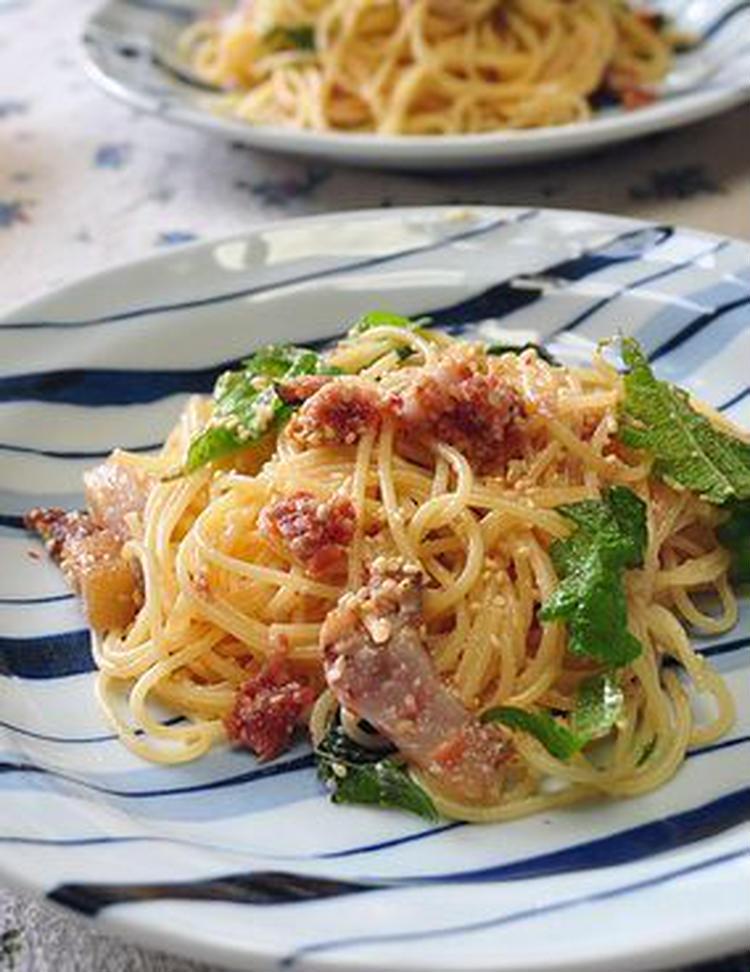ごま風味♪梅とチーズのスパゲティー by:月草さん)