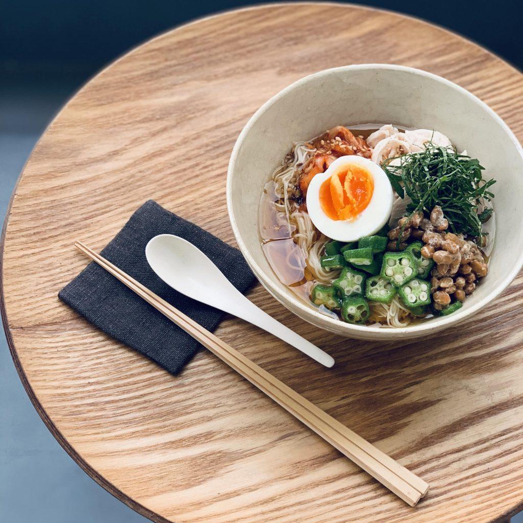 5分で簡単「納豆キムチ素麺」