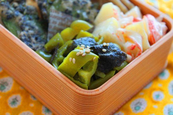 火いらず簡単!ご飯がすすむお弁当おかず「ピーマンと海苔のナムル」 by:料理研究家 かめ代さん