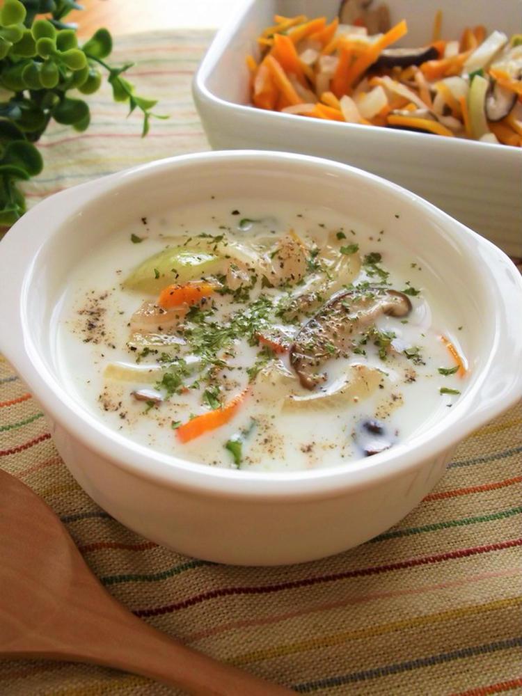 (後は牛乳を入れるだけ!野菜たっぷりスープの素 by:まんまるらあてさん)