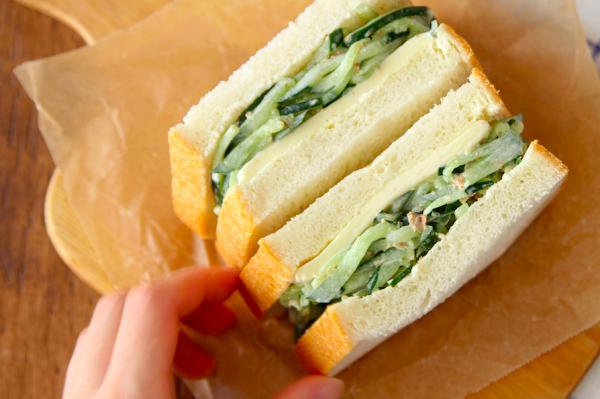 旬をおいしく大量消費!「たっぷりきゅうりのサンドイッチ」 by:五十嵐ゆかりさん