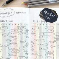 ノートで簡単!食欲の秋に「旬の食材リスト」を作ってみよう♪