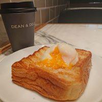 【大阪】シンプルで贅沢な発想!半熟卵on厚切りトースト@DEAN&DELUCA