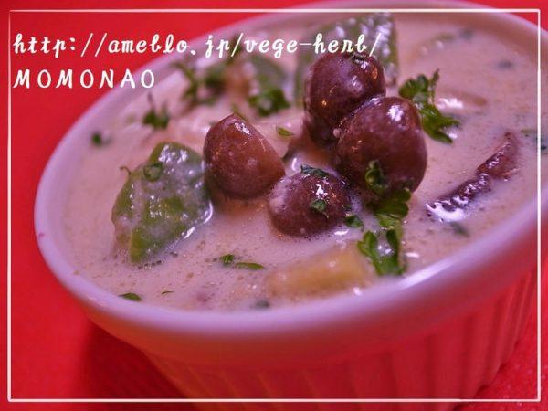 アボカドきのこのチャウダー☆豆乳スープ/236kcal by:MOMONAOさん