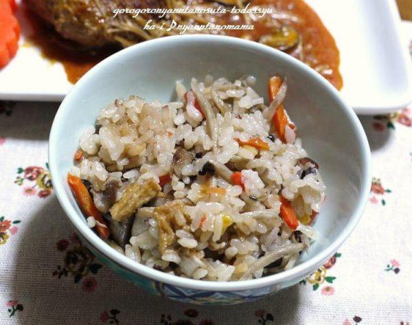 <味付けしっかり♪鶏ごぼうの炊き込みご飯> by:はーい♪にゃん太のママさん