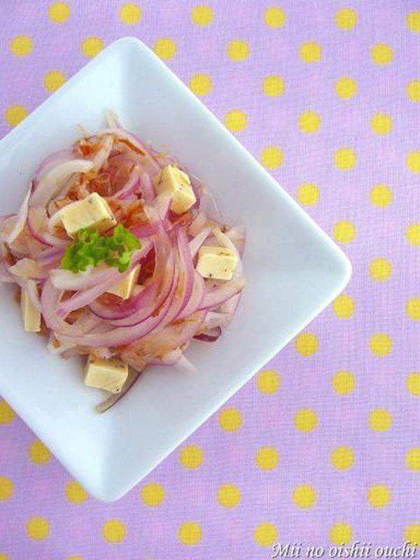 紫玉ねぎのチーズおかか♪ by:みぃさん