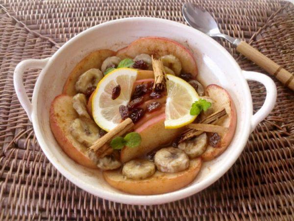 りんごとバナナの蒸し焼き~シナモン風味~ by:ゆりりんさん
