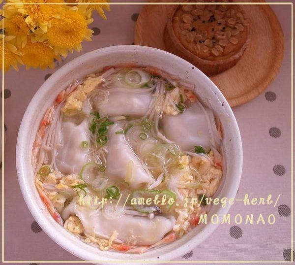ゆず胡椒風味♪かんたん卵スープで餃子スープ by:MOMONAOさん