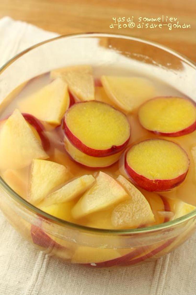 夏のひんやりデザート☆「サツマイモとリンゴの蜂蜜レモン煮」 by :かんざきあつこ(a-ko)さん