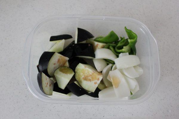 牛こま肉と野菜の焼き肉