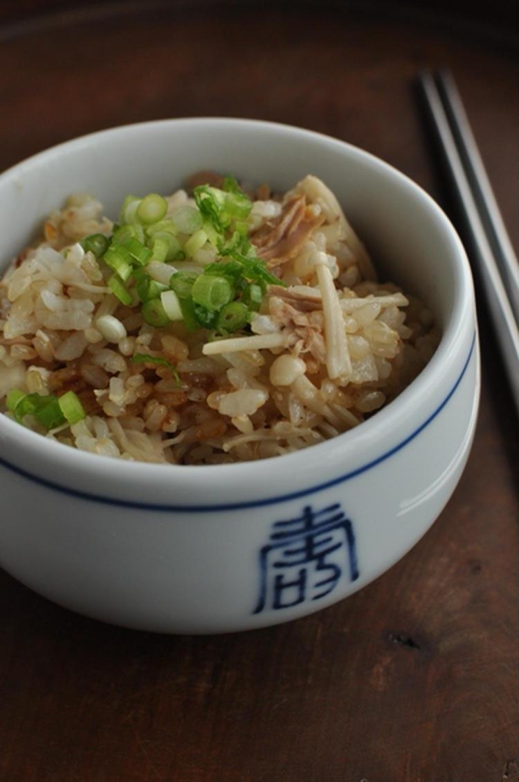 エノキとツナの塩麹ごはん by :マルシェさん